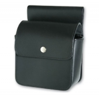 Leather Bolt Bag with flap closure